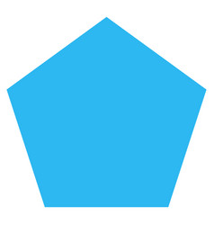 Filled pentagon flat icon vector