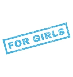 For Girls Rubber Stamp vector image