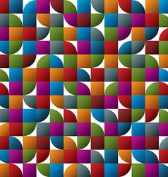 Geometric colorful abstract seamless pattern vector image