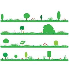 Green gardens vector image