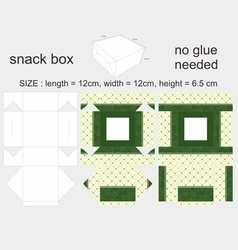 Green Snack Box 12x12x65cm vector