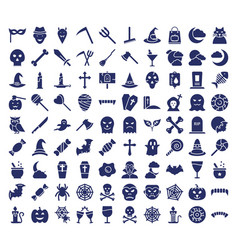 halloween isolated icons set every single vector image