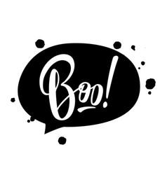 halloween lettering boo vector image
