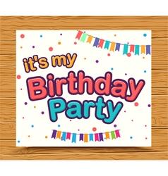 Happy birthday celebration type font design vector