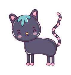 happy cat cute pet animal vector image