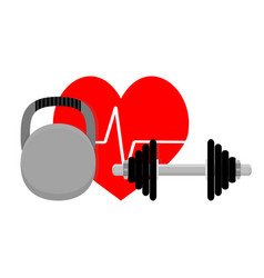 Healthy heart sport and fitness vector