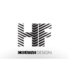 hf h f lines letter design with creative elegant vector image