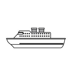 Isolated cruise ship design vector