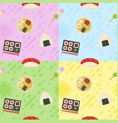 Japanese food pattern vector