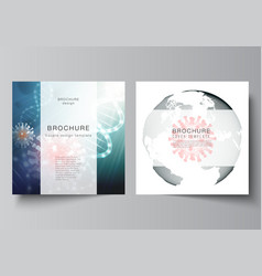 layout two square cover templates vector image