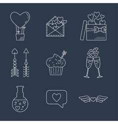 Line valentine day icon Flat design vector image