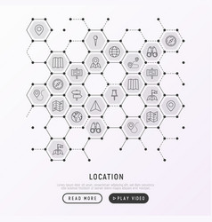 Location concept in honeycombs vector