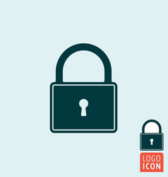 lock icon padlock close symbol vector image