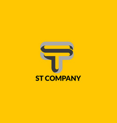 Logo company logotype letter s and t vector