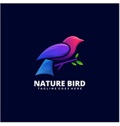 logo nature bird gradient colorful style vector image