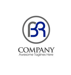 modern bl lb letter logo vector image