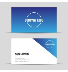 Modern blue business card template vector