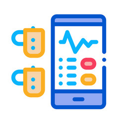 Monitoring device hearing icon outline vector