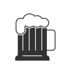 mug beer icon vector image