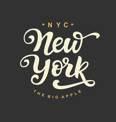 New york city typography vector