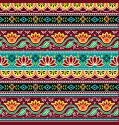 Pakistani indian truck art seamless pattern vector