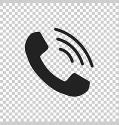 phone icon contact support service sign on vector image