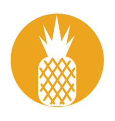 Pineapple tropical and exotic fruit vector