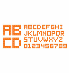 plastic construction blocks alphabet vector image