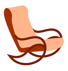 rocking armchair on white background vector image