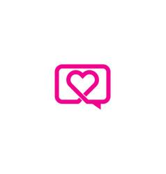 romance chat logo icon design vector image