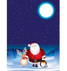 Santa night scene vector image