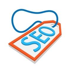 SEO label cartoon icon vector image