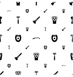 Shaving icons pattern seamless white background vector