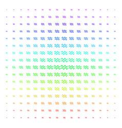 Sinusoid waves shape halftone spectrum effect vector