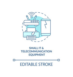 Small it and telecommunication equipment concept vector
