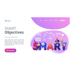 Smart objectives concept landing page vector
