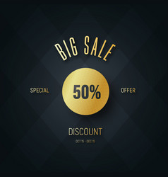 square banner design for big sale and discounts vector image