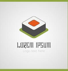 Sushi logo concept vector