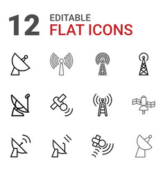 transmission icons vector image