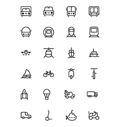 Transport Line Icons 1 vector image