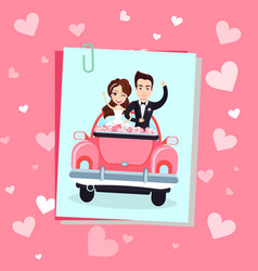 valentine holiday groom and bride photo vector image