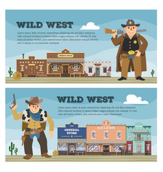 wild west cowboy character saloon western vector image