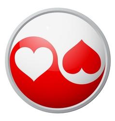 Yin-yang heart symbol vector