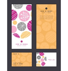 Abstract textured bubbles vertical frame vector