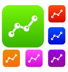 chart statistics line set collection vector image