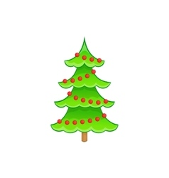 Christmas tree icon cartoon style vector image