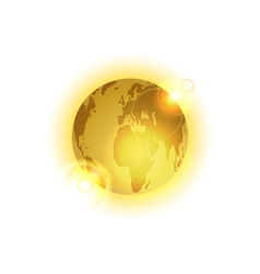 Golden world vector