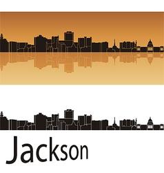 Jackson skyline in orange background vector image