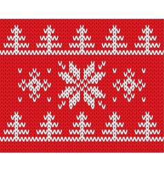 Knitted holiday pattern vector image vector image
