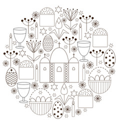 set with religious elements for easter vector image vector image